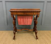 Victorian Inlaid Burr Walnut Work Table (7 of 14)