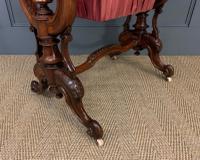 Victorian Inlaid Burr Walnut Work Table (6 of 14)