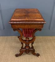 Victorian Inlaid Burr Walnut Work Table (5 of 14)