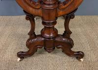 Victorian Inlaid Burr Walnut Work Table (4 of 14)