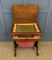 Victorian Inlaid Burr Walnut Work Table (2 of 14)