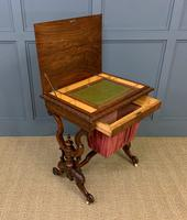Victorian Inlaid Burr Walnut Work Table (8 of 14)