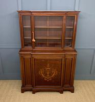 Jas Shoolbred Inlaid Mahogany Bookcase / Cabinet (2 of 15)