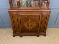 Jas Shoolbred Inlaid Mahogany Bookcase / Cabinet (3 of 15)