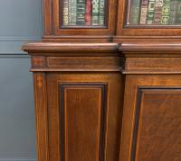 Jas Shoolbred Inlaid Mahogany Bookcase / Cabinet (5 of 15)