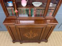 Jas Shoolbred Inlaid Mahogany Bookcase / Cabinet (8 of 15)