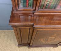 Jas Shoolbred Inlaid Mahogany Bookcase / Cabinet (9 of 15)