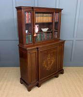 Jas Shoolbred Inlaid Mahogany Bookcase / Cabinet (10 of 15)