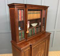 Jas Shoolbred Inlaid Mahogany Bookcase / Cabinet (11 of 15)