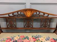 Edwardian Inlaid Mahogany Bench (5 of 10)