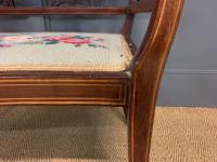 Edwardian Inlaid Mahogany Bench (10 of 10)