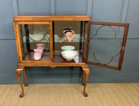 Queen Anne Style Burr Walnut Display Cabinet c.1920 (2 of 14)