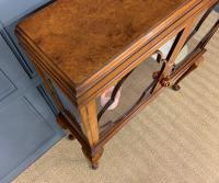 Queen Anne Style Burr Walnut Display Cabinet c.1920 (7 of 14)