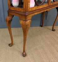 Queen Anne Style Burr Walnut Display Cabinet c.1920 (12 of 14)