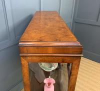 Queen Anne Style Burr Walnut Display Cabinet c.1920 (14 of 14)