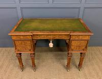 Johnstone & Jeanes Inlaid Burr Walnut Writing Table (4 of 19)