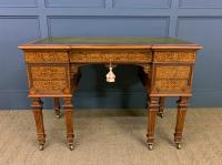 Johnstone & Jeanes Inlaid Burr Walnut Writing Table (2 of 19)