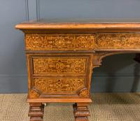 Johnstone & Jeanes Inlaid Burr Walnut Writing Table (8 of 19)