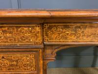 Johnstone & Jeanes Inlaid Burr Walnut Writing Table (9 of 19)