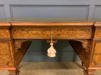 Johnstone & Jeanes Inlaid Burr Walnut Writing Table (10 of 19)
