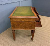 Johnstone & Jeanes Inlaid Burr Walnut Writing Table (16 of 19)