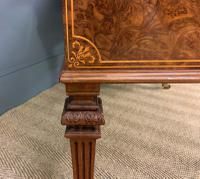 Johnstone & Jeanes Inlaid Burr Walnut Writing Table (17 of 19)