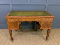 Johnstone & Jeanes Inlaid Burr Walnut Writing Table (18 of 19)