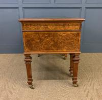 Johnstone & Jeanes Inlaid Burr Walnut Writing Table (19 of 19)