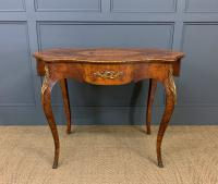 Victorian Inlaid Burr Walnut Centre Table (2 of 12)
