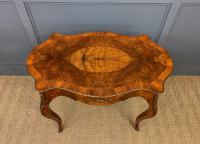 Victorian Inlaid Burr Walnut Centre Table (4 of 12)