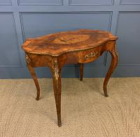 Victorian Inlaid Burr Walnut Centre Table (6 of 12)