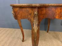 Victorian Inlaid Burr Walnut Centre Table (7 of 12)