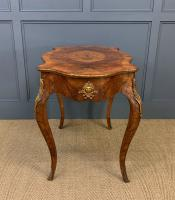 Victorian Inlaid Burr Walnut Centre Table (9 of 12)