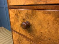 Victorian Burr Walnut Chest of Drawers (4 of 11)