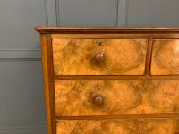 Victorian Burr Walnut Chest of Drawers (6 of 11)