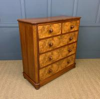 Victorian Burr Walnut Chest of Drawers (7 of 11)