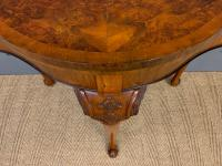 Queen Anne Style Burr Walnut Card Table c.1900 (4 of 13)