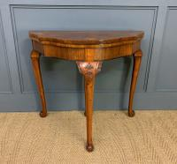 Queen Anne Style Burr Walnut Card Table c.1900 (6 of 13)
