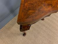 Queen Anne Style Burr Walnut Card Table c.1900 (7 of 13)
