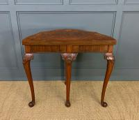 Queen Anne Style Burr Walnut Card Table c.1900 (8 of 13)
