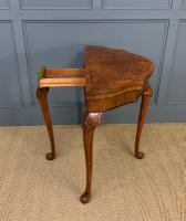 Queen Anne Style Burr Walnut Card Table c.1900 (9 of 13)