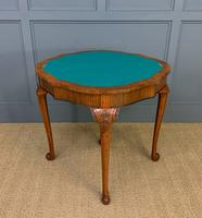 Queen Anne Style Burr Walnut Card Table c.1900 (10 of 13)