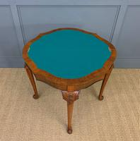 Queen Anne Style Burr Walnut Card Table c.1900 (11 of 13)