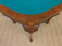 Queen Anne Style Burr Walnut Card Table c.1900 (12 of 13)