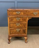 Large Burr Walnut Serpentine Fronted Pedestal Desk (5 of 14)