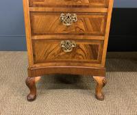Large Burr Walnut Serpentine Fronted Pedestal Desk (6 of 14)