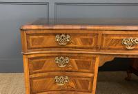 Large Burr Walnut Serpentine Fronted Pedestal Desk (7 of 14)