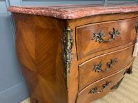 Large French Kingwood Marble Topped Commode (9 of 18)