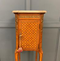 French Marble Topped Satinwood Cabinet c.1900 (3 of 14)
