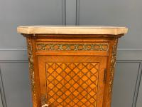 French Marble Topped Satinwood Cabinet c.1900 (4 of 14)